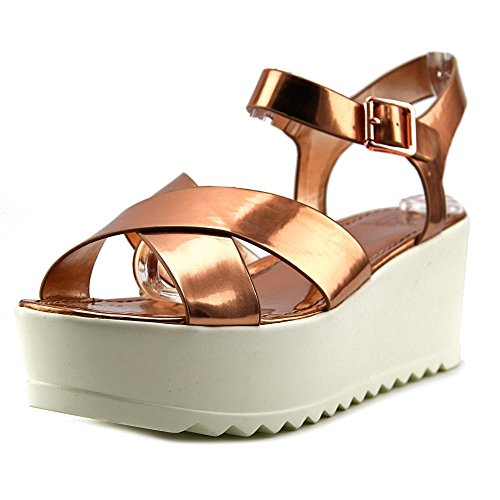 Materiale Ragazza Onda Donne Open Toe Sandalo Con Zeppa Sintetico Oro Rosa