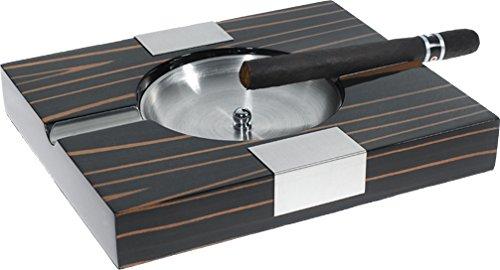 Visol ''Tigress'' Solid Ebony Wood Cigar Ashtray