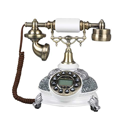 Speakerphone 2 Line Hotel (19-Yiruculture Home Wired Telephone Retro Phone with Rotary dial Telephone European Resin Phone landline Family Fixed Retro Phone Creative Fashion Retro Phone (Color : A))