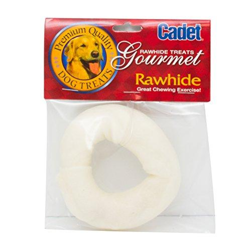 (Cadet Rawhide Dog Treat Donut; 3-4