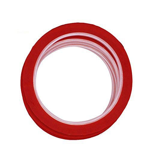LGEGE 5 Rolls Red Graphic Chart Tape/Artist Tape (Width: 3mm, 164ft per roll) (Chart Red Graphic Tape)