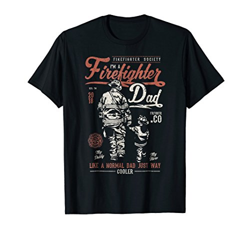 Fireman Shirts Tee (Firefighter Dad Shirt - Vintage Fireman Gift T-Shirt)