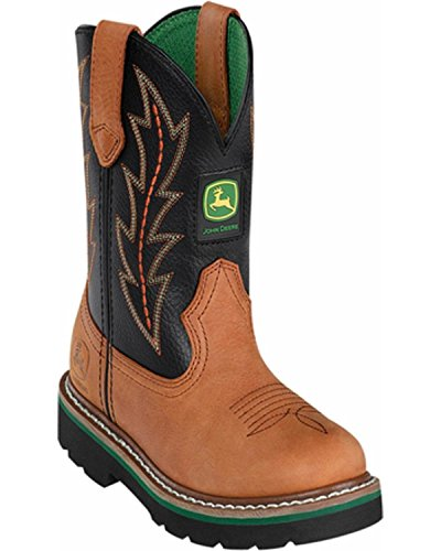 John Deere 2190 Western Boot (Toddler/Little Kid),You Tan Black Top Pull ON,9 M US Toddler ()