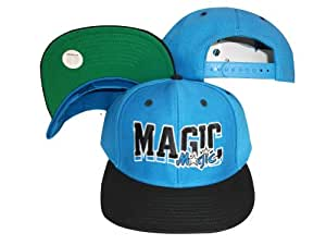 Orlando Magic Wave Blue/Black Two Tone Plastic Snapback Adjustable Plastic Snap Back Hat / Cap