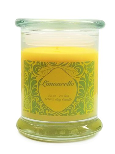 S&M Candle Factory Limoncello Scented Candle Soy Wax Candle (Green Label)