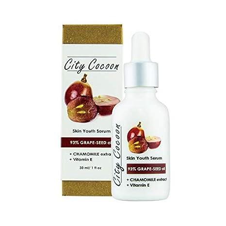 Sérum Rejuvenecedor /anti-arrugas /93% de Aceite de Semilla de Uva/Vitamina E/98% Naturales/Vegano: Amazon.es: Belleza