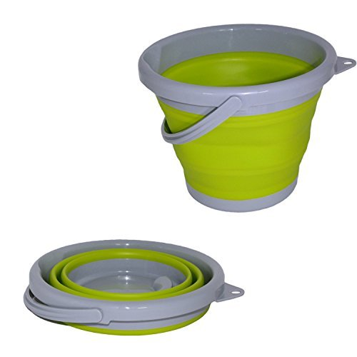 Set of 2 Collapsible Buckets in 1.3 Gallon Capacity by Tool Solutions