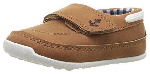 Baby Boat Shoes (Carter's Every Step Stage 3 Boy's Walking Shoe, Finn, Brown, 4 M US Toddler)