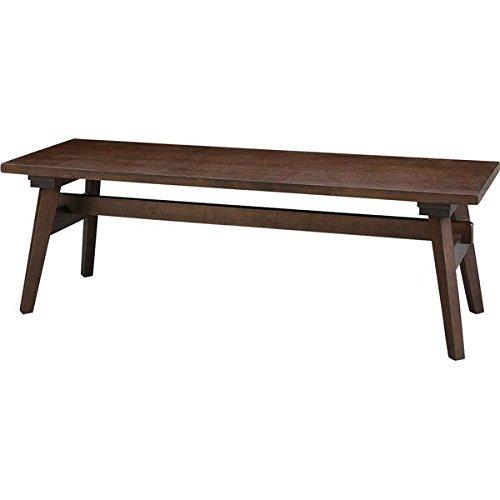 ローベンチ ベンチチェア 【ブラウン】 木製 高さ36cm 『モティ』 B0778HS1NBブラウン ベンチ