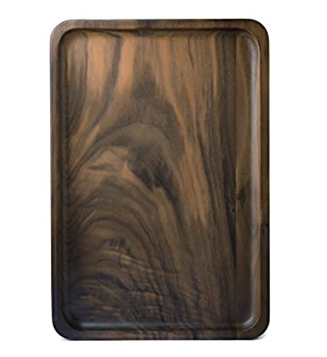Bamber Wood Serving Tray, Decorative Trays, Serving Platters for Tea Coffee Wine, Premium Quality, Totally Handcrafted