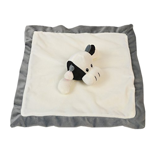 Lovey Security Blanket 12 inch Square Stuffed Animal Baby Blankie for Girls or Boys (Cow) by Baberoo Cow Blanket
