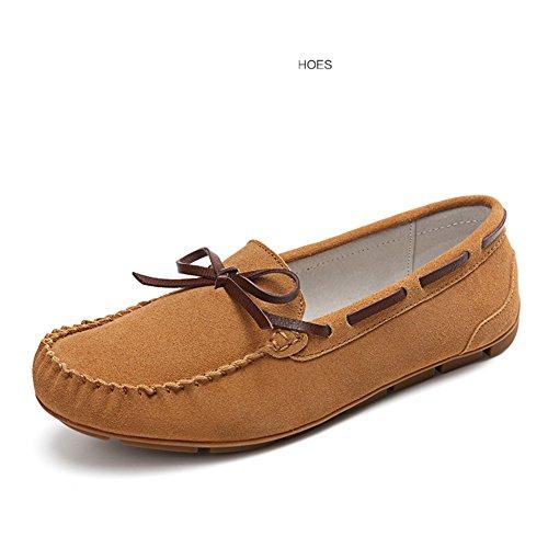 Primavera Mocasín-gommino,La Versión Coreana De Zapatos Corte Bajo,Las Mujeres Zapatos Planos,Las Mujeres Zapatos De Cuero,Zapatos De Las Mujeres Embarazadas A