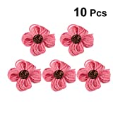 YeahiBaby 10pcs Colored Flower Embellishments Headband DIY Crafting Scrapbooking Accessories (Pink)
