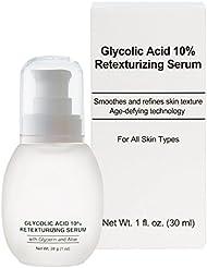 Jolie Glycolic Acid 10% Retexturizing Serum W/ Alpha Hydroxy Acids & Aloe 1 oz.