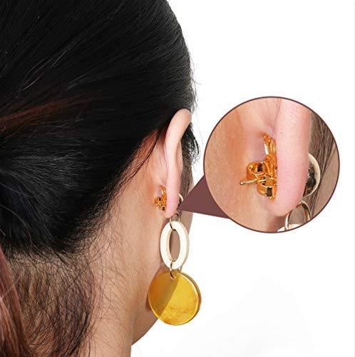 Earring Lifters for Droopy Ears Ear Lobe Support YAVIS Earring Backs Magic Earring Lifts Secure Hypoallergenic, Adjustable, 3 Pairs 925 Sterling Silver