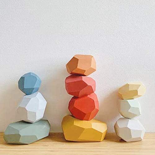 Bloques de juego de madera, jenga para niños, bloques de construcción: Amazon.es: Handmade