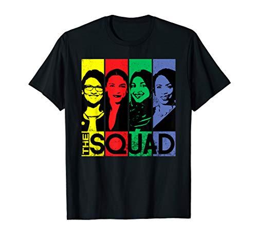 THE SQUAD AOC Ilhan Omar Tlaib Pressley Feminist T-Shirt