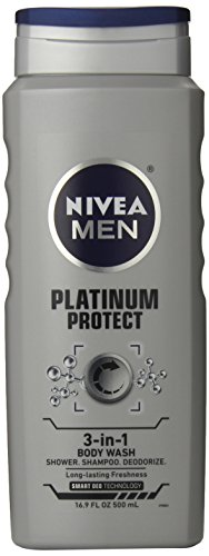 Nivea for Men Platinum Protect Body Wash 3 in 1 - Ocean Burs