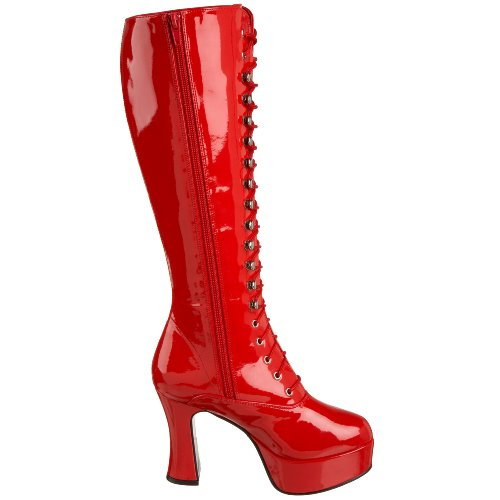 Size Dress up Women's Lace Shoe Red Boots Fancy Platform 5 zCY5Yxg