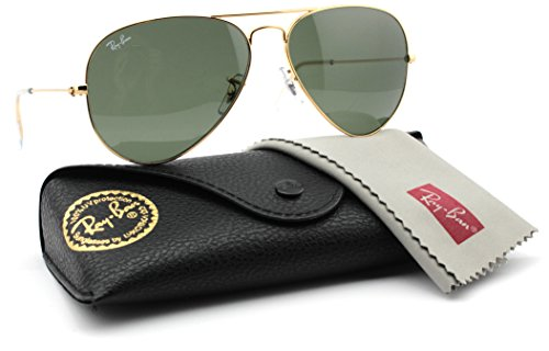 Ray-Ban RB3025 L0205 Aviator Sunglasses Gold Frame / Grey Green Lens - Ray Ban 58 Rb3025 L0205