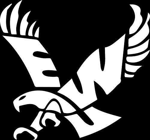Eagles Uni (White) (Set of 2) Premium Waterproof Vinyl Decal Stickers for Laptop Phone Accessory Helmet Car Window Bumper Mug Tuber Cup Door Wall Decoration