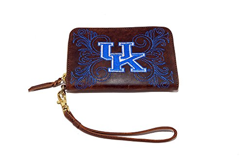 Leather Kentucky Wildcats Embroidered Wallet - 7