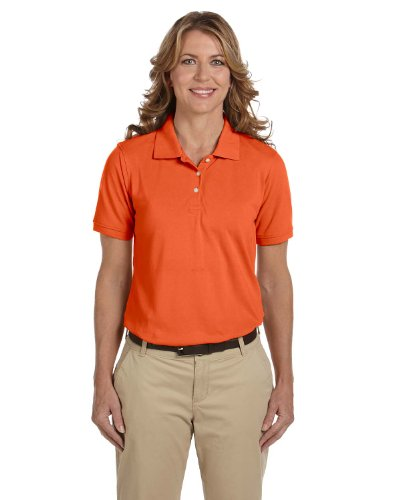 Ladies' Easy Blend Polo, Team Orange, 2XL
