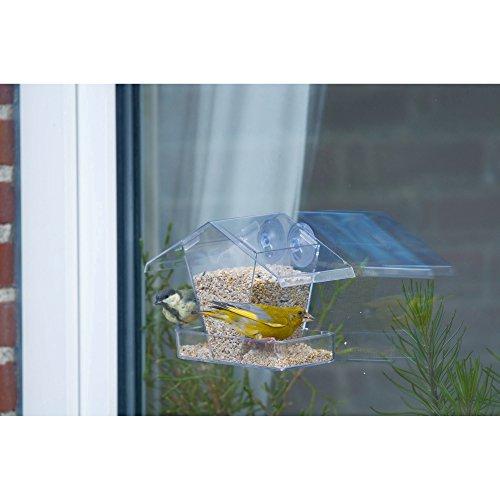 C J Crete Transparent Window Feeding House (One Size) (Clear) by C J Wildbird Foods Limited