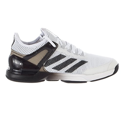 - adidas Performance Men's Adizero Ubersonic 2 Tennis Shoe, White/Core Black/Grey Two, 9.5 M US