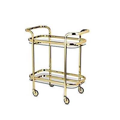Viski 5891 Belmont Bar Cart Barending, Gold