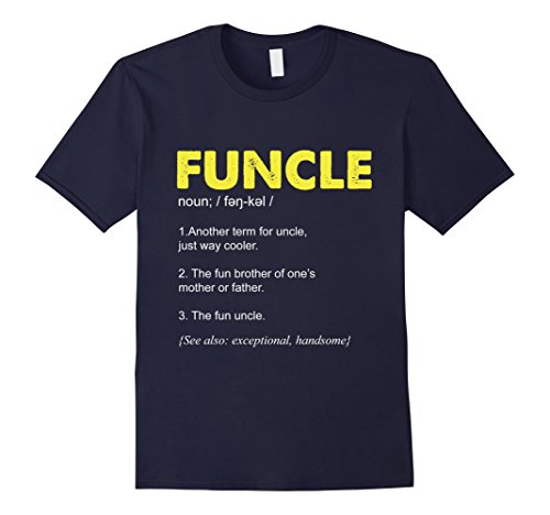 Mens Funcle Definition Tshirt Tee | Xmas Gift for the Best Uncle! Large Navy