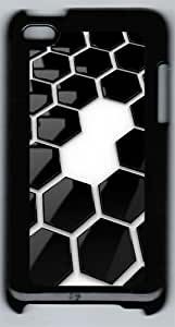 Hexagonal Pattern Polycarbonate Hard Case Cover for iPod 4 ¨CBlack