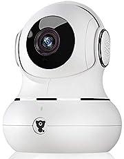 Littlelf IP-Kamera 1080p Full HD Drahtlose Fernüberwachung 350° Panorama und 105° Neigung durch Anwendungen gesteuert, 3D Panoramakamera, Fernüberwachung für Babys und Tiere - Weiß