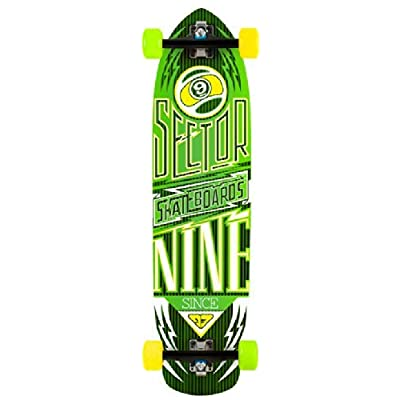 Sector 9 Carbon Flight Longboard - 9.25x36 Green : Sports & Outdoors