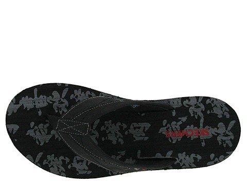 Heren Skechers Sandalen Nors Trofisch - Zwart Zwart
