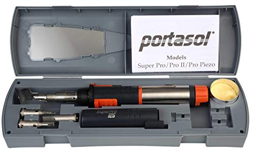 Kit Butane Soldering - Portasol 010589330 Super Pro 125-Watt Heat Tool Kit with 7 Tips