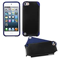 Asmyna Black/Dark Blue Frosted Fusion Protector Cover for iPod touch 5