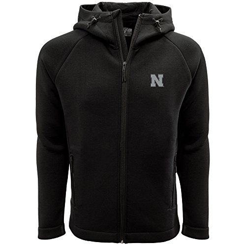 Nebraska Cornhuskers Adult Men Titan Insignia Strong Style Full Zip Hooded Jacket, XX-Large, Black ()