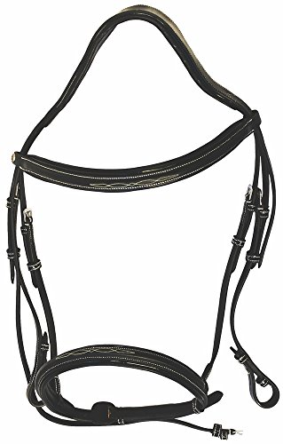 - Henri de Rivel Pro Mono Crown Fancy Bridle with Patent Leather Piping