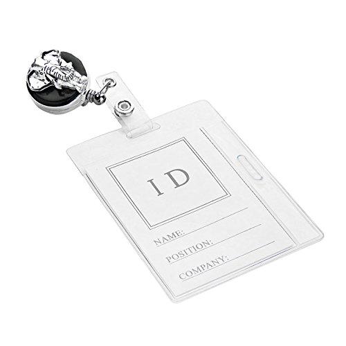 elephant-retractable-employee-id-badge-holder-silver-tone