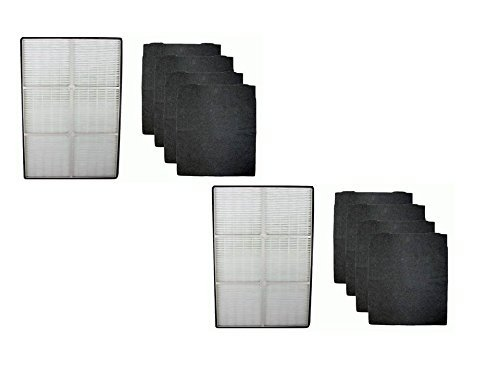 2 COMPLETE SETS for Whirlpool 1183054K HEPA Filter and 4 Carbon Filters 8171434K