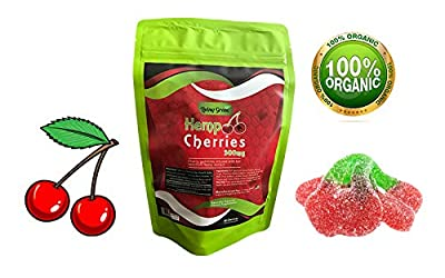 Hemp Mini Worms Gummies 300mg- 20mg per Serving- 30 ct- Full Spectrum Organic Hemp Extract - Relaxing, Pain Relief, Stress & Anxiety Relief - Sleep Better by Living Green (WaterMelon's)