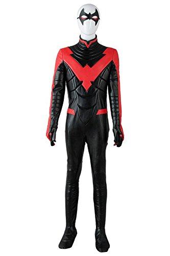 Nightwing Costume For Kids (UU-Style Superhero Nightwing Robin Dick Grayson Halloween Cosplay Costume Jumpsuit)