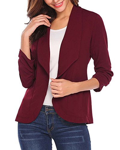 Jacket Bodeaux Tailleur Lunga Business Coat Ufficio Giacche Slim Giacca Elegante Manica Blazer Fit Donna xZOHw7
