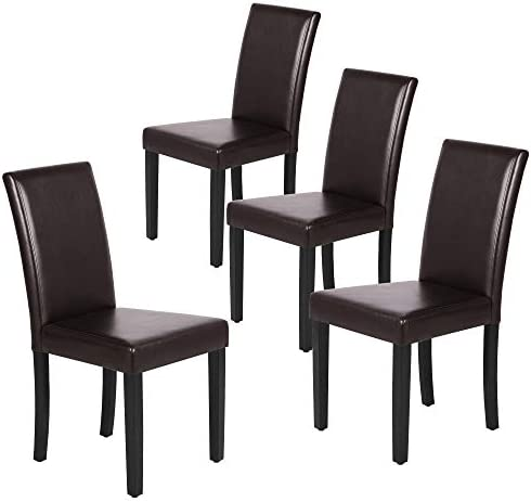 Yaheetech Dining Chairs Side PU Cushion Chair