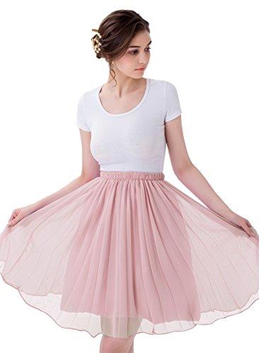 Chiffon Knee Length Skirt - 8