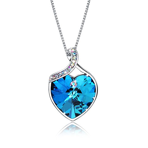 OSIANA Forever Love Heart Pendant Women's Necklace The Crystal From Swarovski 18