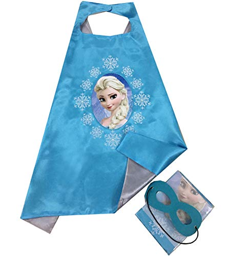 Elsa, Girls Super Hero Cape and Mask Dress Up Costume, Halloween, Birthday