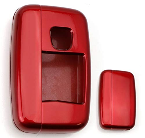 iJDMTOY (1 Exact Fit Glossy Sparkling Red Smart Key Fob Shell Cover for 2010-2016 Land Rover 5-Button Key Fit Ranger Rover Sport, Range Rover, LR4, Evoque, etc