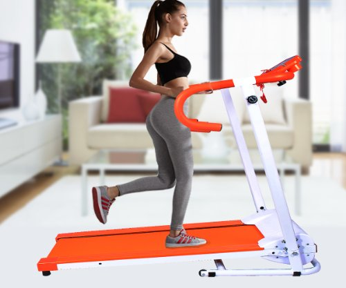 Goplus New 1100w Folding Electric Treadmill Portable Motorized Running Machine Orange